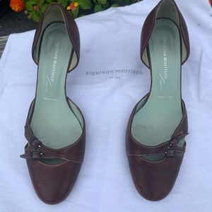 Sigerson Morrison brown leather pumps 7M